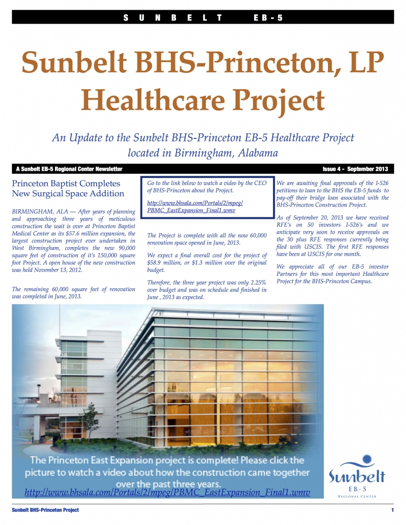 Sunbelt BHS-Princeton Update Issue 4 Fall 2013 copy